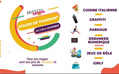 Stages de Toussaint du 2 au 6 Novembre